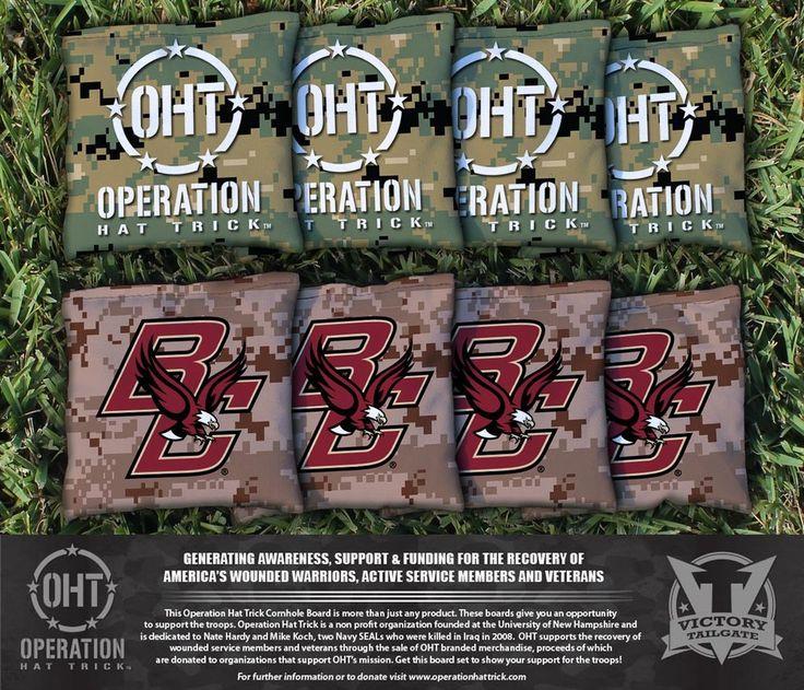 Cornhole All Weather Bag Set - Operation Hat Trick Boston College Eagles