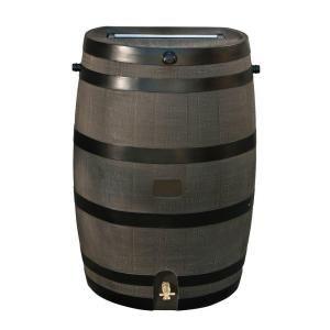 50 gal. Rain Barrel with Woodgrain Brass Spigot-55100006005681 at The Home Depot