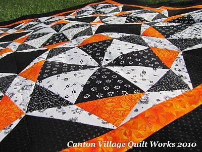 black and white and orange quiltidea for the philadelphia flyers quilt i