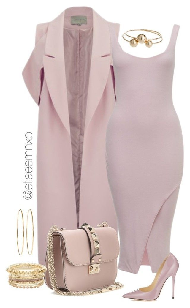 """Lavish Mauve"" by efiaeemnxo ❤ liked on Polyvore featuring Lavish Alice, Valentino, Jimmy Choo, Topshop and Jennifer Meyer Jewelry"