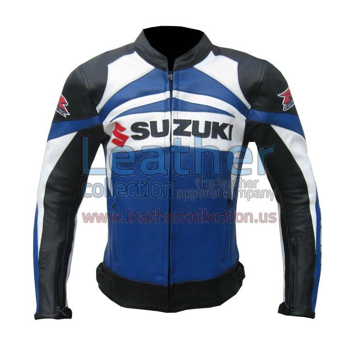 Suzuki GSXR Leather Jacket - https://www.leathercollection.us/en-we/suzuki-gsxr-leather-jacket.html GSXR Leather Jacket, Suzuki Leather Jacket #GSXRLeatherJacket, #SuzukiLeatherJacket