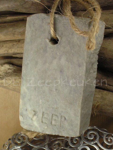 Soap on a rope...love the rustic look...like slate
