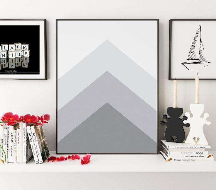 Grey Art, Geometric Prints, Printable Art, Black and White Decor, Geometric Art, Minimalist Art, Simple Decor, Home Decor