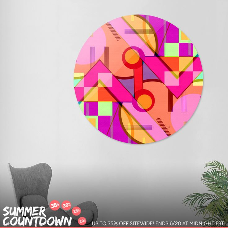 Discover «Up and down», Exclusive Edition Disk Print by Silvia Ganora - From 80€ - Curioos Grab your shades, then get up to 35% OFF my art during the Summer Countdown! > https://www.curioos.com/silviaganora/promo #promo #countdown #wallart #homedecor #curioos #interior #contemporary #modern #prints #artprints #canvasprints #diskprints #summerdesign