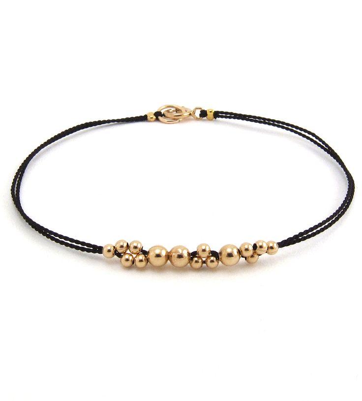 Little Leo Gold Beaded Bracelet | This beaded bubble bracelet is king of the accessory jungle. I... | Bracelets