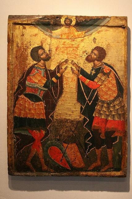 albania - the land of the illyrians    Berati (Berat) - Icon of the Onufri Museum.