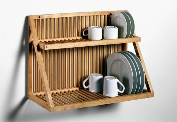 Traditional Wooden Plate Rack: Remodelista - teak oil coating helps it be water resistent