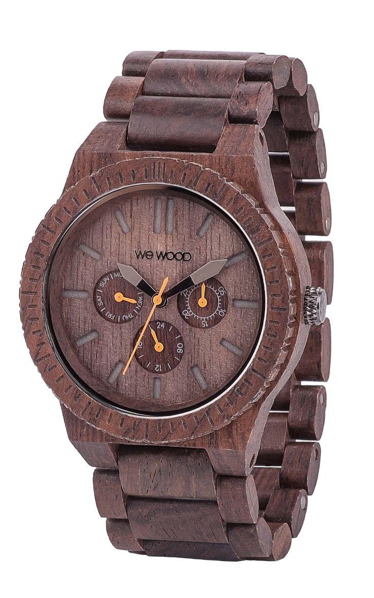 """Montre en bois """"Kappa Chocolate"""" Par Bijoux Privés #bijouxprives #bejewels #watch #wood #accessories #montre #bois"""