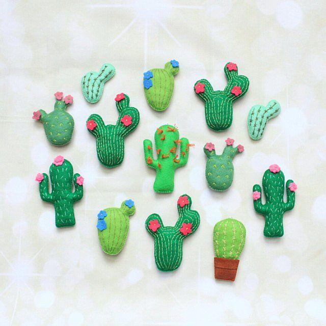 Felt cactus decoration Cute Succulents Cactus plush felt succulent Cactus plant stuffed cactus cactus magnet Cactus ornament cactus garland