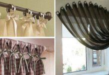 Kreativní nápady jak krásně a netradičně pověsit záclony a závěsy ve vaší domácnosti!