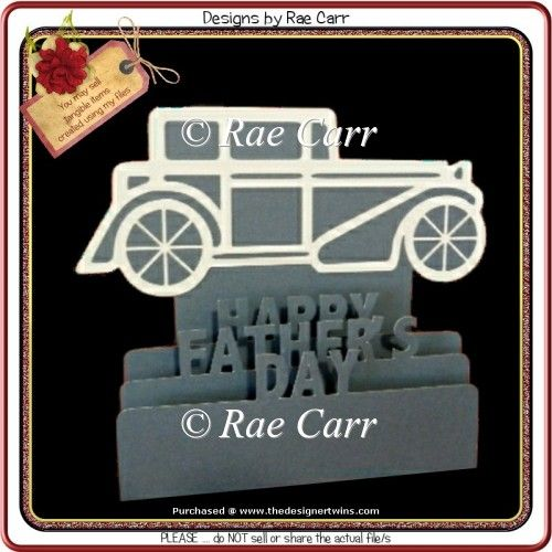 478 Antique Car Sliceform Card Multiple MACHINE Formats : The Designer Twins ...where creativity encounters quality and value