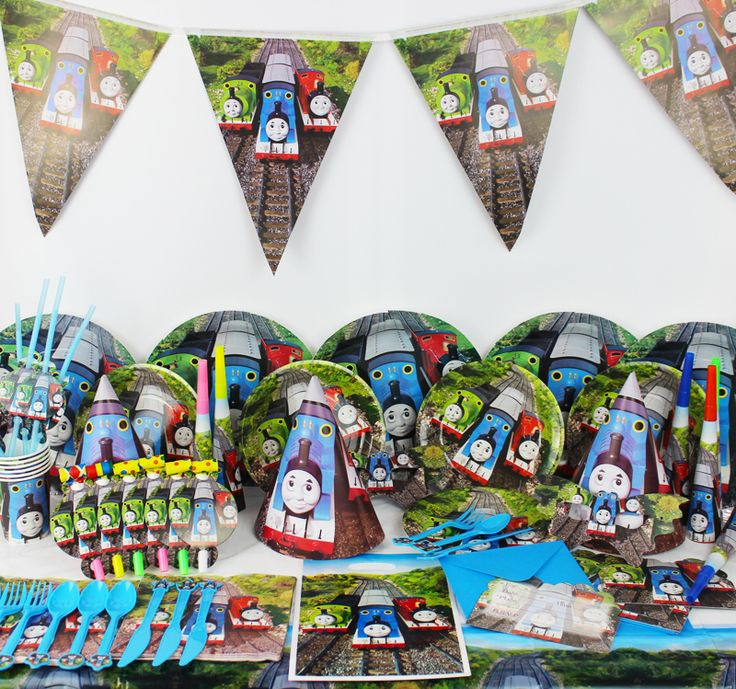 78pcs/lot Thomas and His Friends Birthday Party Decorations For Kids Cartoon Dream Party Set Baby Shower Party Supplies //Price: $49.70 & FREE Shipping //     #partysupplies
