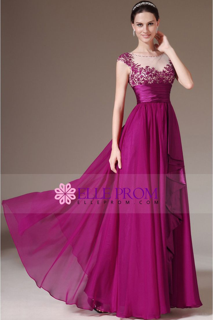 2014 Bateau Beaded Neckline Embellished Tulle Bodice With Embroidery Pleated Waistband Prom Dress