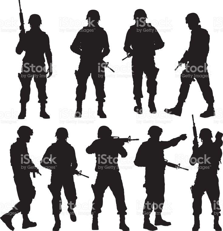 Polícia em várias acções download vetor e ilustração royalty-free