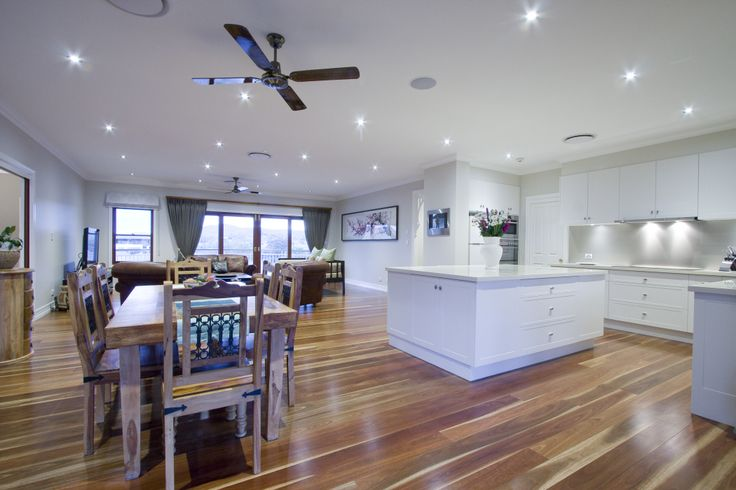 The kitchen is large but functional with stone bench tops, including a large island, and glass splashbacks. A cedar servery at the kitchen window services the rear verandah. A large walk in pantry houses a large variety of food and cooking stuffs.
