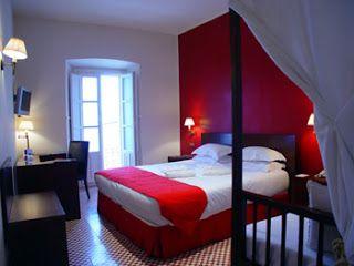Colores para Decorar: Con que colores combina una pared roja en dormitorios