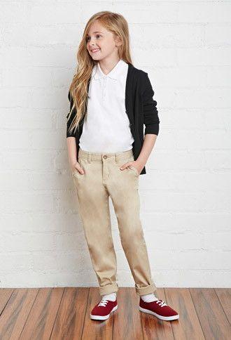 School Uniform Pants (Kids)   Forever 21 girls - 2000183789