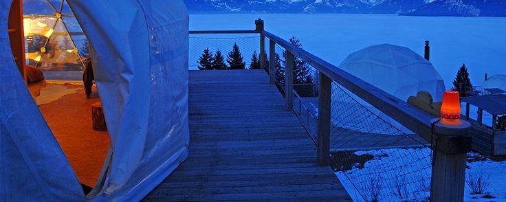 Sleeping whitepod eco luxury hotel valais suisse hotel for Hotel design valais