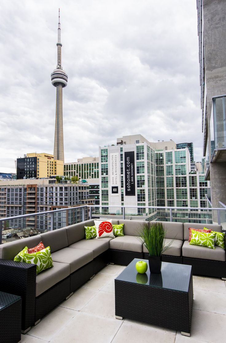 Condo balcony furniture ideas - Outdoor Living Contemporary Toronto Condo Www Cmidesign Ca Cmid