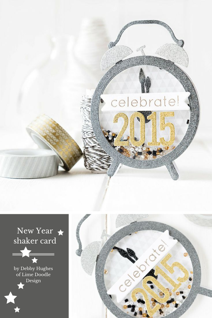 Shaker Card Tutorial. For more please visit http://limedoodledesign.com/2014/12/shaker-card-tutorial/ Debby Hughes - Lime Doodle Design - #shaker #card #tutorial #diecutting