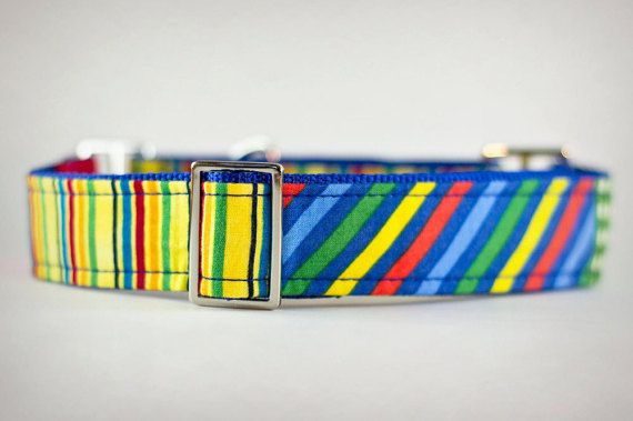 Martingale Dog Collar Striped Dog Collar Boy Dog by PuppyRiot