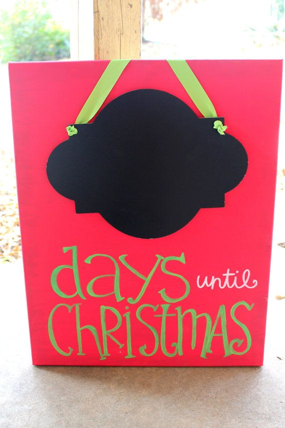 Days until Christmas Countdown // chalkboard by colorsoncanvas, $50.00
