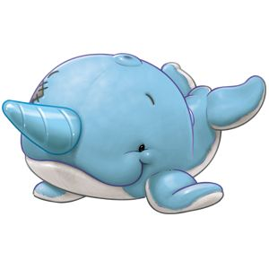 Nelson The Narwhal is a knowledgeable Narwhal, expert in all things nautical, he'll steer you clear of deep waters.