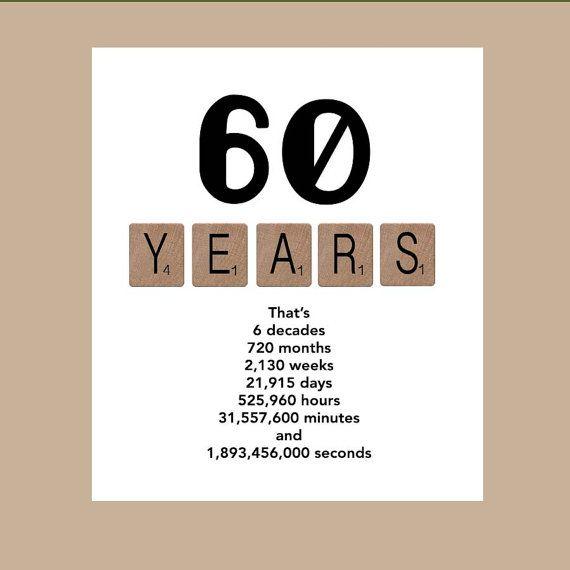 60th Birthday Card, Milestone Birthday Card, The Big 60, 1954 Birthday Card