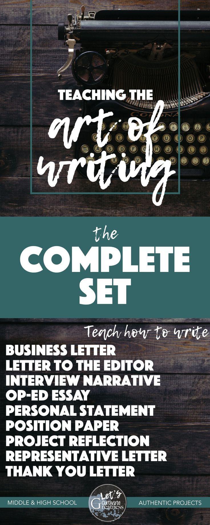 Art of Writing Bundle 9 Authentic PBL