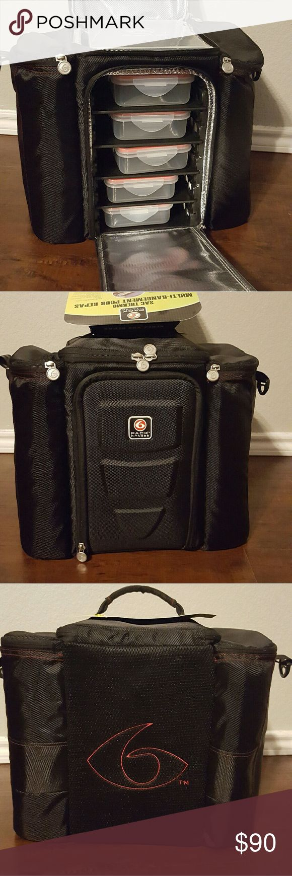 6 Pack Bag  Meal Management System BRAND NEW 6 Pack Bag. Never used. Tags.  All contents included. 6 Pack Bag  Bags Luggage & Travel Bags