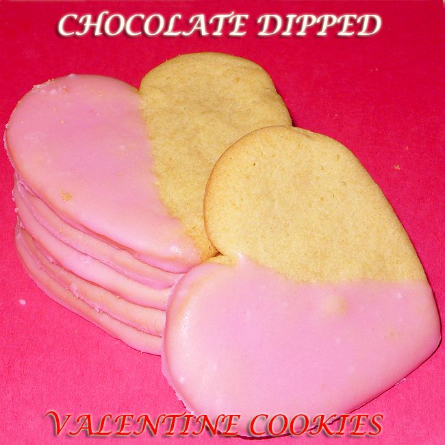Chocolate Dipped Valentine Cookies | Holiday Food | Pinterest