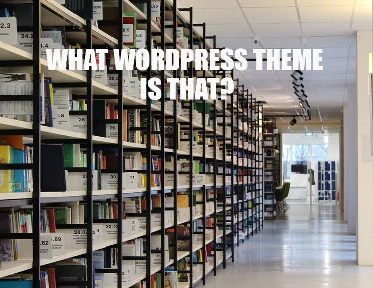 Find out what cool WordPress theme is being used. #WordPress #theme