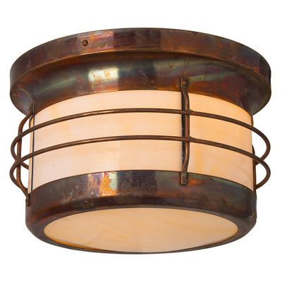 America's Finest Lighting Company Balboa Nautical Craftsman Design 1 Light Outdoor Flush Mount