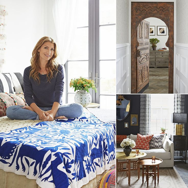 love the fabric,.....Genevieve Gorder's Home Pictures | POPSUGAR Home