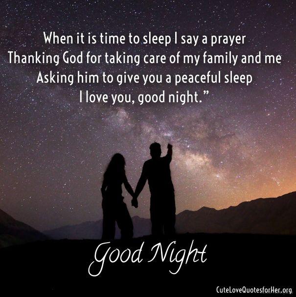 good night poem to my girlfriend