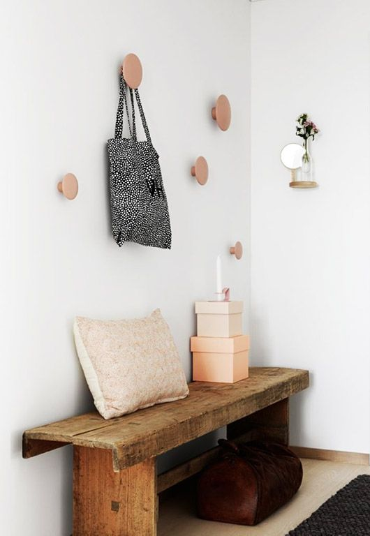 pink polkadot wood wall hooks. / sfgirlbybay