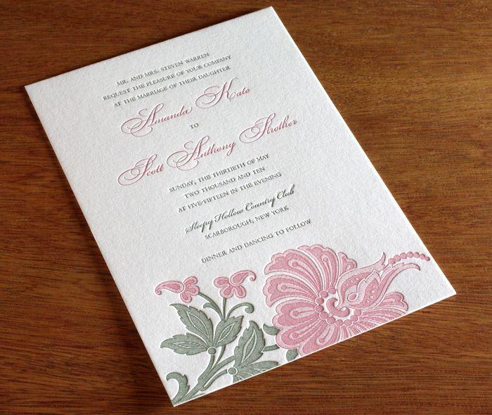 blume letterpress wedding invitation by invitations by ajalon