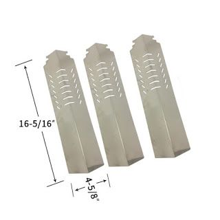 Grillpartszone- Grill Parts Store Canada - Get BBQ Parts,Grill Parts Canada: Cuisinart Heat Shield | Replacement 3 Pack Stainle...