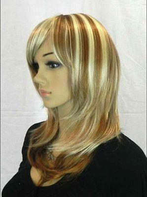 Новых леди женщин с длинными моде блондинки мода волнистые волосы парик теплоизоляционный слой cospay парики