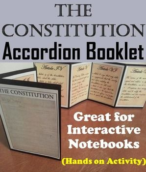 This constitution booklet is a fun hands on activity for students to use in their interactive notebooks. Students may research or show what they have learned by writing a description about each of the seven articles of the constitution.