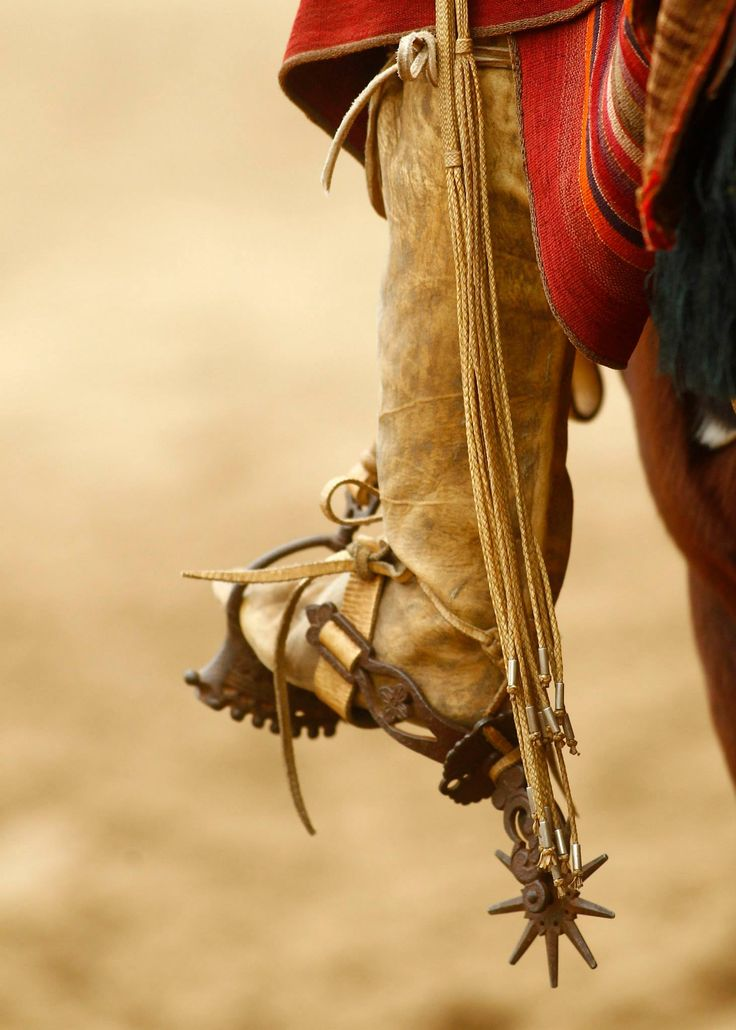 Estribado - these boots are made from cow leg leather - the heel is the hock part of the leg.