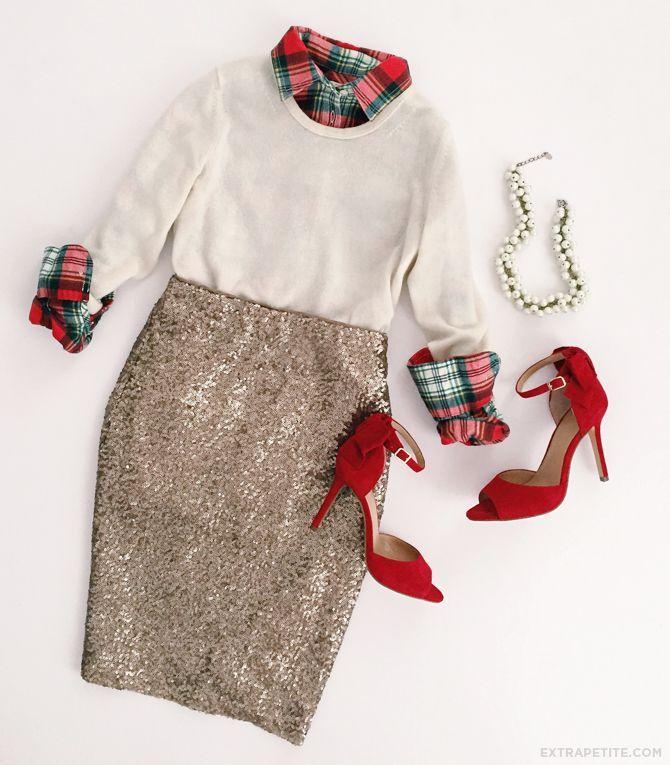 Holiday tartan + sequined skirt // J.Crew Factory flash sale