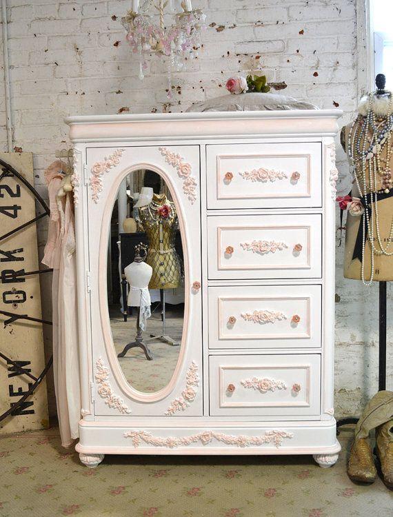 Painted Cottage chique gasto francês romântico Dresser CH803