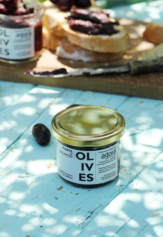 Paste from Kalamata olives from at least 8 month fermentation olives, with natural process. Rich and balanced flavor. Ideal spread for toast, sandwiches, appetizers and cheeses.