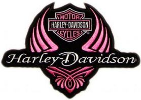 Harley Davidson ladies logo machine embroidery design. Machine embroidery design. www.embroideres.com