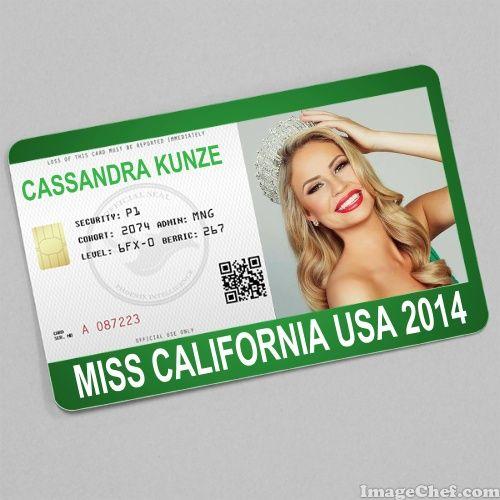 Cassandra Kunze Miss California USA 2014 card