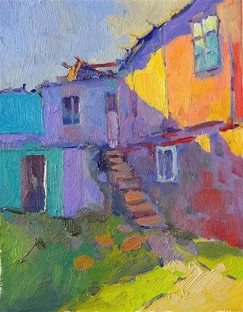 """""""Colors of Old Houses (Sunset)"""" by Suren Nersisyan."""