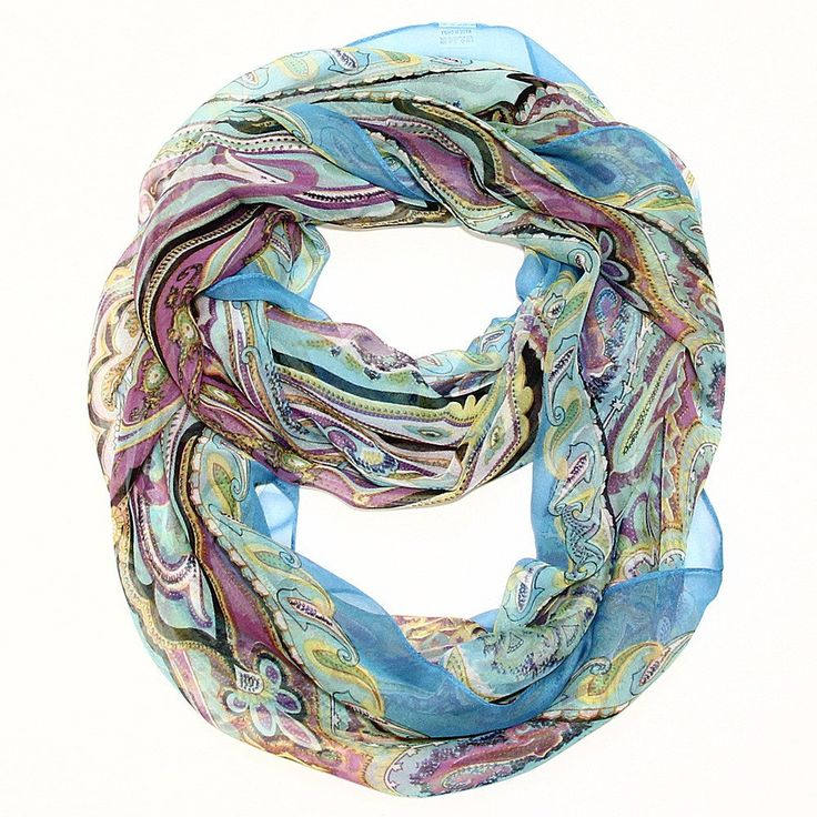 Beautiful Dream A Little Dream Silk Feel Infinity Scarf Teal