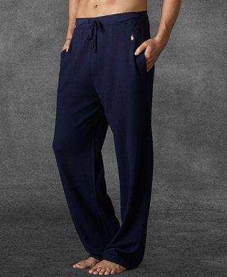 Polo Ralph Lauren Men's Loungewear, Waffle Thermal Pants