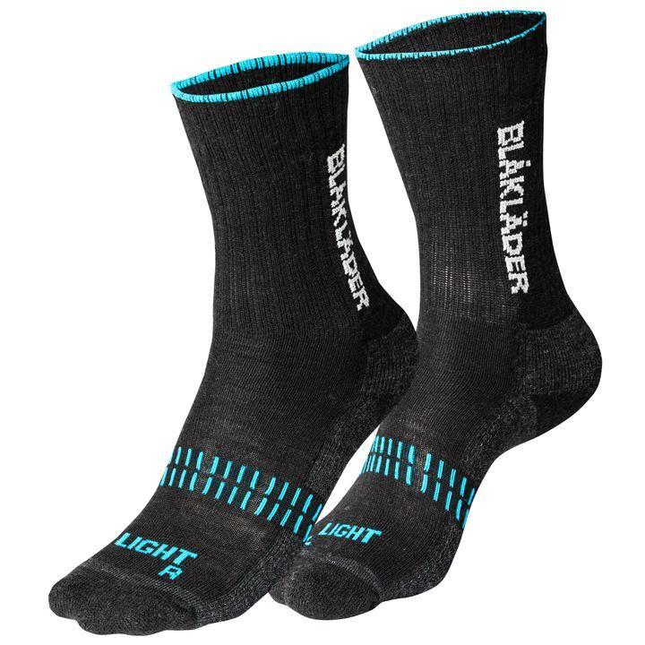 """Vékony munkás zokni """"LIGHT"""" (60% gyapjú), Vékony munkás zokni LIGHT Blaklader 2191-1094-9968 60% gyapjú, 38% polyamid, 2% elasztán Puha és kényelmes zokni minden évszakra tervezve. Szárazon és melegen tartja a lábat, jól szellőző. Kialakításának köszönhetően légréteget képez a láb és a cipő között. Az elasztán erősítés szorosan illesszkedő, formatartó kialakítást eredményez. Ajánlott tartomány -10 és +10 Cfok között., 4Hend Munkaruha & Védőruha"""